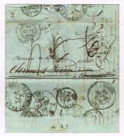 A1b-Bourges  ( Cher )réexpéditions - Marcophilie (Lettres)
