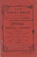 CARTE D ETAT MAJOR EPINAL REGLEE ET DIVISEE PAR LA CLE BECHEREL - Documenti