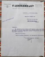 87 LIMOGES 75 PARIS 10e Manufacture De Porcelaines Et D'Appareillage Electrique F. LEGRAND 55 REVIGNY - France