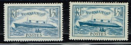 A2b-N°300Nf** + N°300b Turquoise Nf**turquoise Signé ROUMET Cote 650 Euros - France