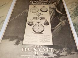 ANCIENNE PUBLICITE MONTRE DE JEAN BENOIT 1917 - Gioielli & Orologeria