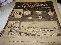 ANCIENNE PUBLICITE MONTRE LONGINES QUALITE 1917 - Bijoux & Horlogerie