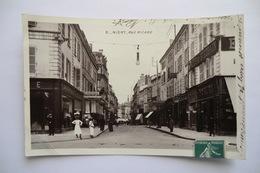 CPA CARTE PHOTO 79 DEUX SEVRES NIORT. Rue Ricard. 1908. - Niort