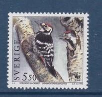 WOODPECKER  PIVERT SPECHT SWEDEN SUEDE SCHWEDEN 1994 MI 1948 MNH Slania PROTECTED BIRDS  Geschützte Vögel OISEAUX - Peacocks