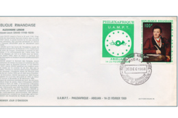 Rwanda PA 0004 FDC  Alexandre Lenoir  1er Jour - 1962-69: FDC