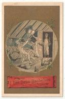 Chromo Doré - Les Deux Bacheliers - Fable De Florian - Chromos
