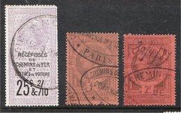 France Vieux Fiscaux (Old Revenues) - Chemin De Fer Et Véhicules - Catalogue? - Revenue Stamps