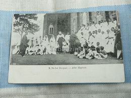 Na Het Doopsel After Baptism Africa - Cartoline