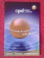 ANTIGUO OLD CALENDARIO CALENDAR DE BOLSILLO MANO PUBLICIDAD ADVERTISING APD BILBAO ASOCIACIÓN PROGRESO DE LA DIRECCIÓN - Tamaño Pequeño : 2001-...