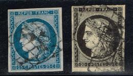 A4b-N°4 Bleu Et N°3 Noir  Sans Défaut - 1849-1850 Ceres
