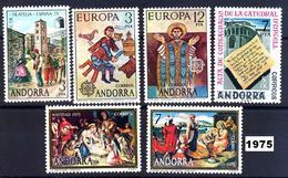 Andorra 096/101 ** 1975 Año Completo - Spanish Andorra