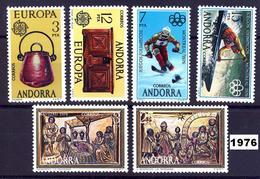 Andorra 102/107 ** 1976 Año Completo - Spanish Andorra