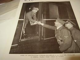 AFFICHE PHOTO FRANCO ET LE FUHRER 1940 - 1939-45