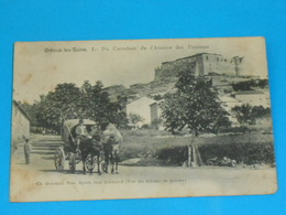 """04 ) Gréoux-les-bains - N° 7 - Carrefour De L'avennue Des Thermes  """" Attelage """" - Année 1909 - EDIT - - Gréoux-les-Bains"""