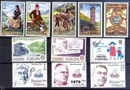 Andorra 122/132 ** 1979 Año Completo - Spanish Andorra