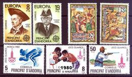 Andorra 133/139 ** 1980 Año Completo - Spanish Andorra