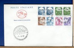 ITALIA - FDC  CAVALLINO  1988 -   CASTELLI MACCHINETTE - 6. 1946-.. Repubblica