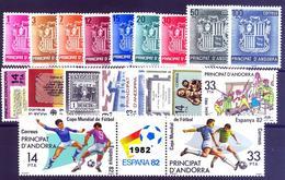 Andorra 148/167 ** 1982 Año Completo - Spanish Andorra