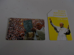 B699    2 Schede Telefoniche Papa Giovanni Paolo II - Schede Telefoniche