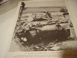 AFFICHE PHOTO  CHAR TYPE SHERMAN 1944 - 1939-45