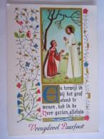 Illustrateur M. Amsens Jezus Pasen Vreugdevol Paasfeest Jésus Gelopen Circulée 1964 Paques Edit Belgium Médiatrix Genval - Illustratori & Fotografie