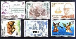 Andorra 184/189 ** 1985 Año Completo - Spanish Andorra