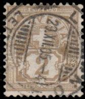Suisse 1905. ~ YT 100 Par 3 - 2 C. Armoiries - 1882-1906 Armoiries, Helvetia Debout & UPU