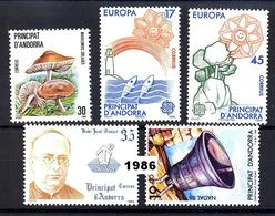 Andorra 190/194 ** 1986 Año Completo - Spanish Andorra