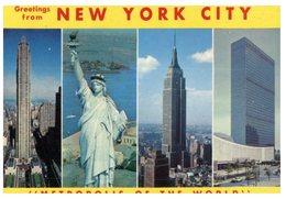 (852) Very Old Postcard - USA - New York City - With Special Statue Of Liberty Postmark - Estatua De La Libertad