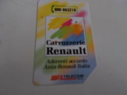 B699    Scheda Telefonica Renault - Unclassified