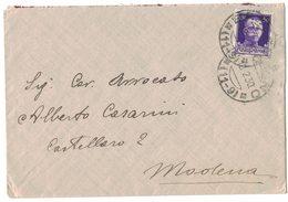 AI121   Regno 1930 - Annullo Frazionario - BAZZANO (BO) 11-9  Su Busta Per Modena - 1900-44 Victor Emmanuel III