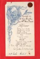 * * Menu Du Mariage - Les Genettes Aout 1926 * * - Menus