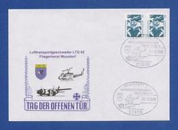 BRD Beleg - Tag Der Offenen Tür Fliegerhorst Wunstorf, Lufttransportgeschwader LTG 62 Vom 24.6.2000 - Hubschrauber