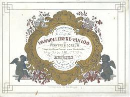 BRUGES - BRUGGE : Superbe Carte Porcelaine - Vanhollebeke - Van Loo - Peintre Et Doreur - Litho Daveluy - 15.2 / 11.7 CM - Brugge