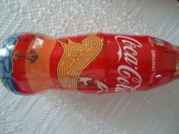GREECE COCA COLA RARE Free Shipping Glass BOTTLE EMPTY GRETA ISLAND Painting Minoan Art 2 Scan - Coca-Cola