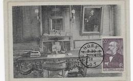 Carte Maximum 1938 Gambetta Journaliste - Cartas Máxima