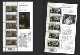 Belgie -Belgique 4092/94 Velletjes Van 10 Postfris - Feuillets De 10 Timbres Neufs  - Schrijvershuizen - Feuilles Complètes