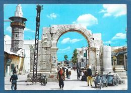 SIRYA SIRIA DAMASCUS DAMAS STRIGHT STREET & ROMAN ARCH 1962 - Siria