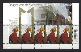 Belgie - Belgique 3940 Velletje Van 5 Postfris - Feuillet De 5 Timbres Neufs  - R. Van Der Weyden - Feuilles Complètes