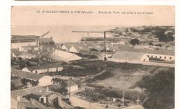 Saint Gilles Croix De Vie - Entree Du Port , Vue Prise A Vol D'oiseau -  CPA° - Saint Gilles Croix De Vie