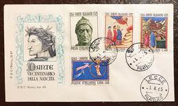 Italia Busta Primo Giorno 1965 Dante  Bu.238 - 6. 1946-.. Repubblica