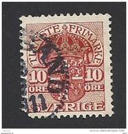 Schweden, Dienstpost, 1910, Michel-Nr. 22, Gestempelt - Servizio