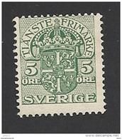 Schweden, Dienstpost, 1910, Michel-Nr. 20, Gestempelt - Servizio