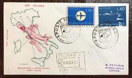 Italia Busta Primo Giorno 1965 Inaugurazione Del Servizio Postale Italiano Raccomandata Cod.bu.242 - 6. 1946-.. Repubblica
