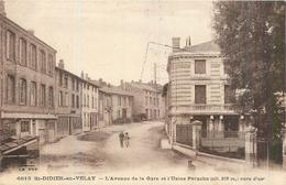 43 SAINT DIDIER EN VELAY  L'avenue De La Gare Et L'usine Pérache   2scans - Saint Didier En Velay