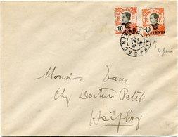 INDOCHINE ENTIER POSTAL AVEC AFFRANCHISSEMENT COMPLEMENTAIRE DEPART HAIPHONG 26 MAI 22 TONKIN POUR LE TONKIN - Indocina (1889-1945)