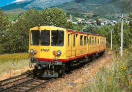 AK Eisenbahn Frankreich FRANCE Saillagouse Bourg-Madame SNCF Métro Pyrénéen Des Pyrénées 1986 SACM/Carde/Thomson FRA - Eisenbahnen