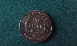 1872, Maison Thiriard, Liege, Darboy, Archeveque De Paris, 4 Gram (med332) - Elongated Coins