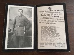 Sterbebild Wk1 Bidprentje Avis Décès Deathcard IR2 1. März 1916 Aus Kuglern - 1914-18