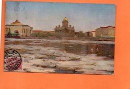 CARTE POSTALE ANCIENNE. RUSSIE. LENINGRAD. SAINT-PETERSBOURG. VUE SUR LA NEVA. 1912. - Russia